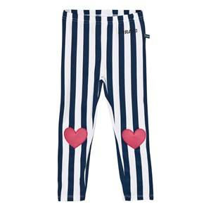 The BRAND Girls Bottoms Blue Heart Leggings Blue Stripe
