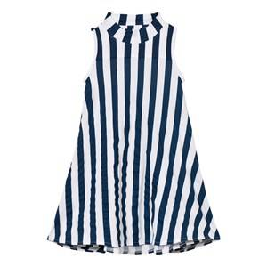 The BRAND Girls Private Label Dresses Blue Turtle Dress Blue Stripe