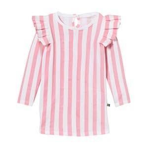 The BRAND Girls Private Label Dresses Pink Flounce Dress Pink Stripe