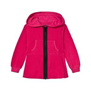 The BRAND Girls Jumpers and knitwear Pink Cotton Terry Peplum Hoodie Pink