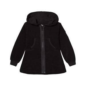 The BRAND Girls Private Label Jumpers and knitwear Black Cotton Terry Peplum Hoodie Black