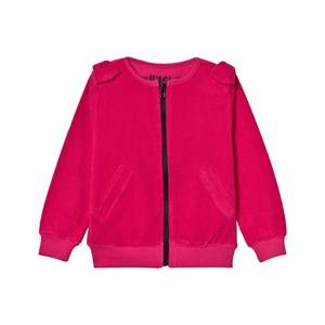 The BRAND Girls Jumpers and knitwear Pink Cotton Terry Bow Zip Sweater Pink