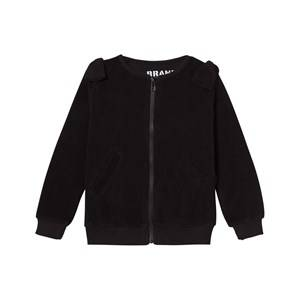 The BRAND Girls Jumpers and knitwear Black Cotton Terry Zip Sweater Black