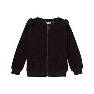 The BRAND Girls Private Label Jumpers and knitwear Black Cotton Terry Zip Sweater Black