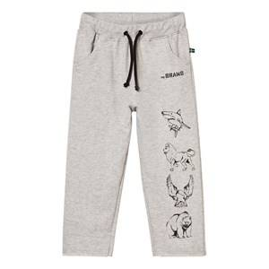 The BRAND Boys Bottoms Grey Animal Sweatpants Grey Melange