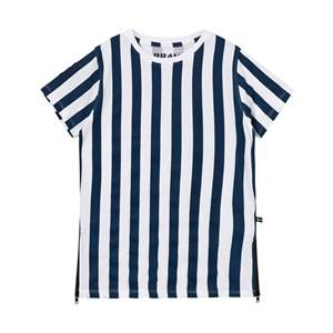 The BRAND Girls Dresses Blue Long Tee Dress Blue Stripe