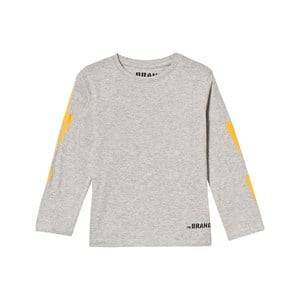 The BRAND Unisex Tops Grey Boom Long Tee Grey Melange