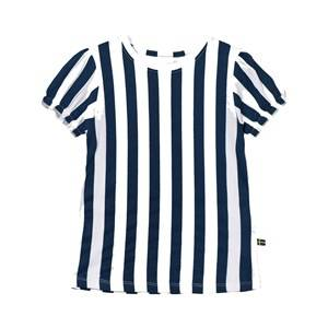 The BRAND Girls Tops Blue Girly Tee Blue Stripe