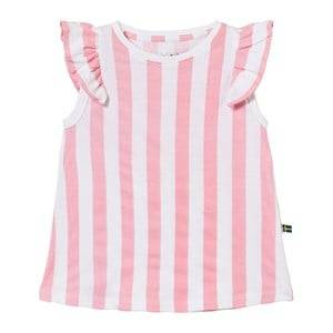 The BRAND Girls Tops Pink Suede Top Pink Stripe