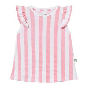 The BRAND Girls Private Label Tops Pink Suede Top Pink Stripe