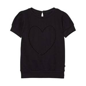 The BRAND Girls Private Label Tops Black Heart Top Black