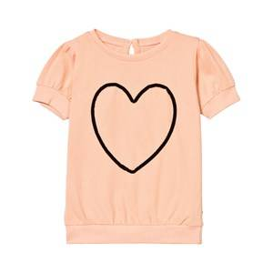 The BRAND Girls Tops Orange Heart Top Peach