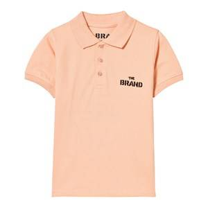 The BRAND Unisex Private Label Tops Orange Pique Top Patch Peach