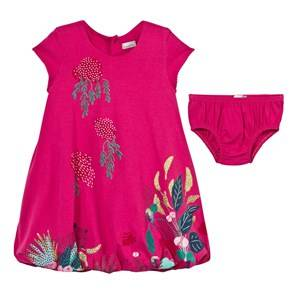 Catimini Girls Dresses Pink Pink Jersey Floral Print Dress with Bloomers