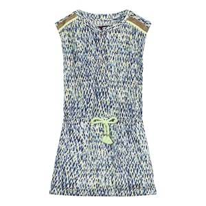 Catimini Girls Dresses Multi Navy and Green Multi Print Dress