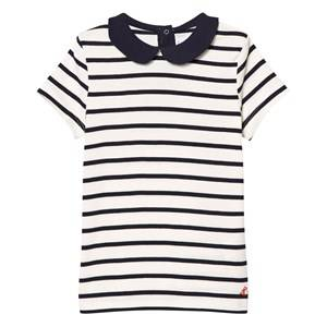 Petit Bateau Boys Tops Navy Navy and White Peter Pan Top