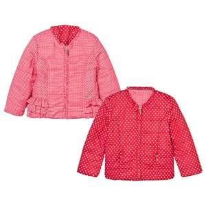 Mayoral Girls Coats and jackets Red Red Reversible Spot Puffer Jacket