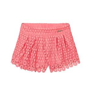 Mayoral Girls Shorts Pink Coral Lace Shorts