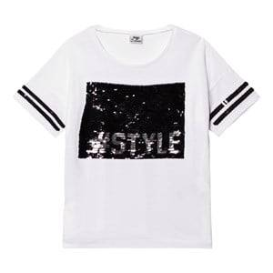 Mayoral Girls Tops White White and Black Sequin #Style Tee