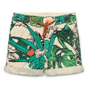 Billybandit Boys Shorts Green All Over Tropical Leaf Print Shorts