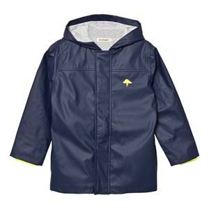 Billybandit Boys Coats and jackets Navy Navy Raincoat with Neon Trim