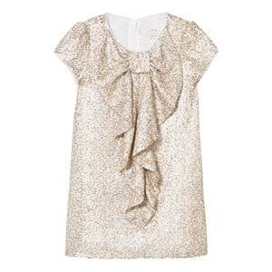 Billieblush Girls Dresses Gold Gold Sequin Bow Front Dress