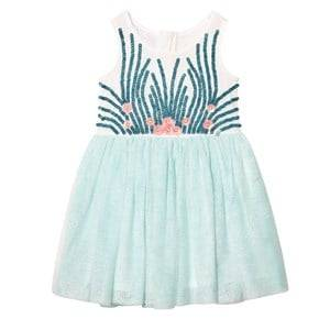 Billieblush Girls Dresses Blue Mint Tulle Sequin and Embellished Dress