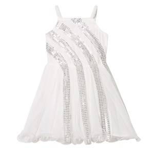 Billieblush Girls Dresses White Off-White Sequin Detail Party Dress