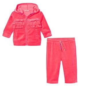Billieblush Girls Clothing sets Pink Pink Velour Ruffle Front Tracksuit