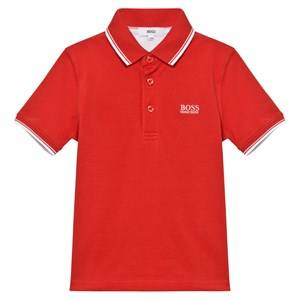 Boss Boys Tops Red Red Classic Branded Polo