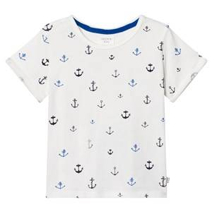 Carrément Beau Boys Tops White White Anchor Print Tee
