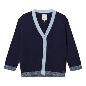 Carrément Beau Boys Jumpers and knitwear Navy Navy and Blue Cotton Cardigan