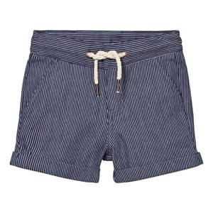 Carrément Beau Boys Shorts Navy Navy Stripe Shorts with Drawcord Waist