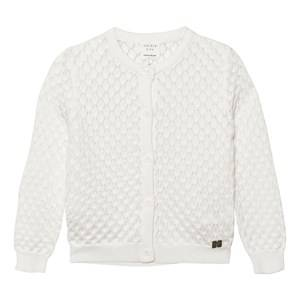 Carrément Beau Girls Jumpers and knitwear Cream Cream Diamond Pointelle and Lurex Cardigan