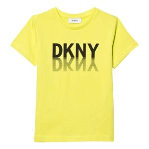 DKNY Boys Tops Green Green Graphic Branded Tee