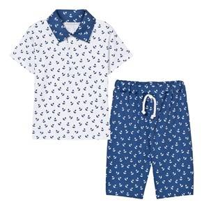 Kissy Kissy Boys Clothing sets White White Polo Shirt and Shorts Set