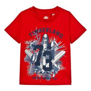 Timberland Boys Tops Red Red Surf Board Graphic Tee