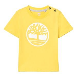 Timberland Boys Tops Yellow Yellow Branded Tree Logo Tee