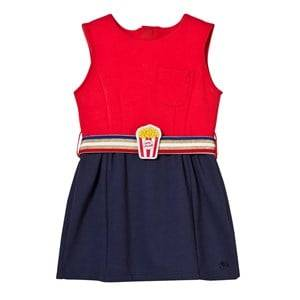 Little Marc Jacobs Girls Dresses Multi Bi-colour Milano Dress with Popcorn Belt