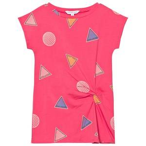 Little Marc Jacobs Girls Dresses Pink Pink Branded Badge Print Twist Dress