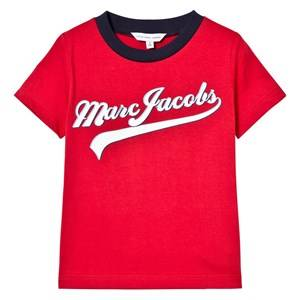Little Marc Jacobs Boys Tops Red Red Script Branded Tee