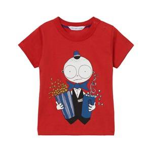 Little Marc Jacobs Boys Tops Red Red Mr Marc Popcorn Tee