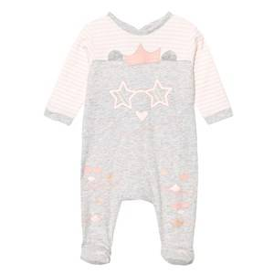 Little Marc Jacobs Boys All in ones Pink Grey and Pink Cat Print Footed Baby Body in Box