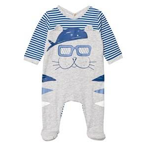 Little Marc Jacobs Boys All in ones Blue Blue and Grey Walrus Print Footed Baby Body in Box