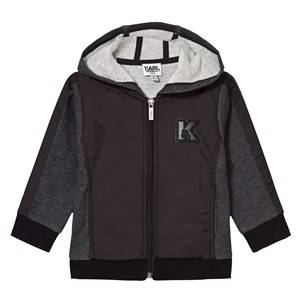 Karl Lagerfeld Kids Boys Jumpers and knitwear Grey Charcoal Marl and Black Branded Hoody