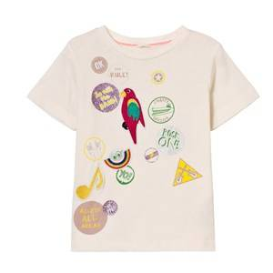Stella McCartney Kids Girls Tops White White Badge Print Arlow Tee