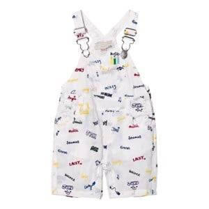Stella McCartney Kids Girls All in ones White Dungarees with Embroidered Names