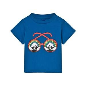 Stella McCartney Kids Unisex Tops Blue Blue Rainbow Sunglasses Tee