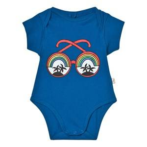 Stella McCartney Kids Boys All in ones Blue Blue Rainbow Sunglasses Baby Body