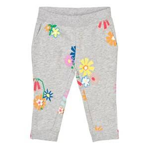 Stella McCartney Kids Girls Bottoms Grey Grey Melange Floral Print Sweatpants
